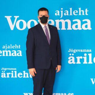 Riigijuht näitab eeskuju. Kus saab seal distants, kus ei, seal mask. Jõgevamaa Ettevõtlusauhindade Gala #elamuspank #ürituskorraldus